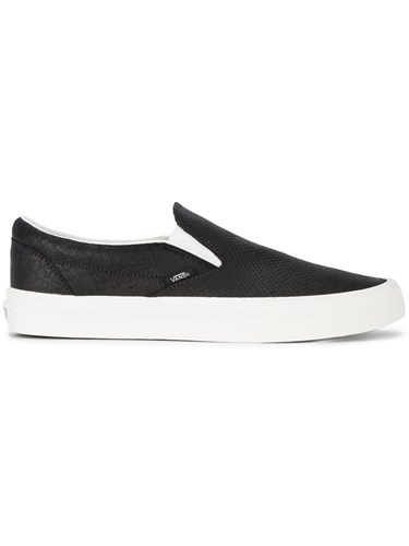 Vans Classic Slip On Sneakers Snake Skin Canvas Rubber Black JgeWDVzZ