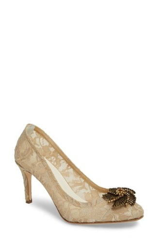 Something Bleu Valerie Embellished Pump Taupe Lace cxufXEFhq