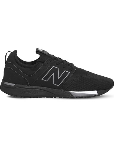 New Balance 247 Classic Leather Trainers Black Grey ZOBB96l0v