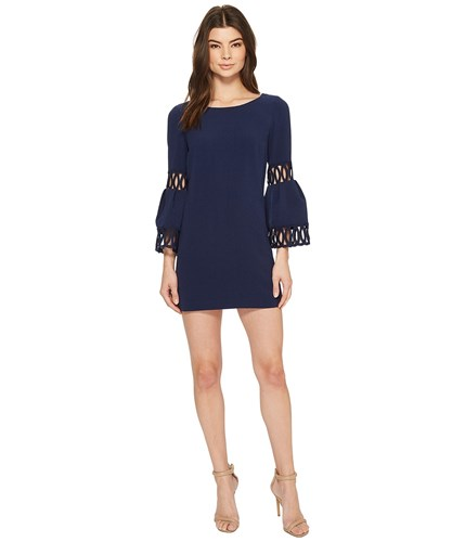 Laundry by Shelli Segal Shift Dress With Bell Sleeve Midnight Navy yUM5J