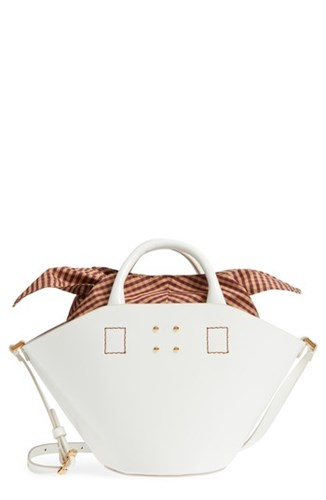 Leather Small White Bucket Bag Trademark AaOwq