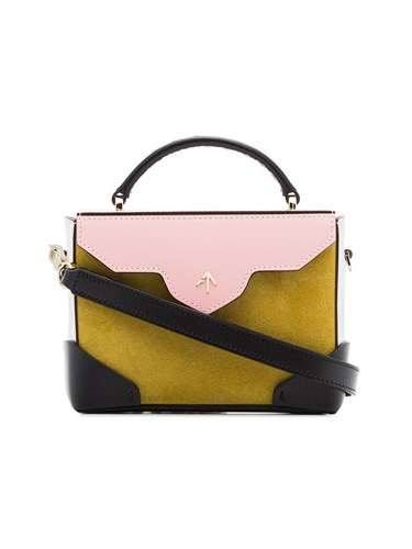 MANU Atelier Yellow And Bubblegum Micro Bold Suede Cross Body Bag Multicolour snTpI7