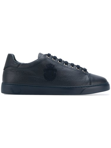 Billionaire Lace Up Rounded Toe Sneakers Blue 2ECJ8ogB