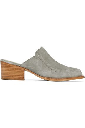 Studded Grey Rag Green Suede Weiss Bone and Mules fYtrxt7q8