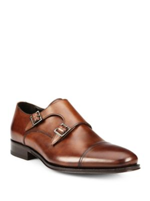 To Boot Grant Double Buckle Monk Strap Shoes Black Brown 5044D