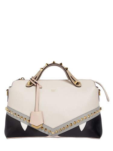 Fendi Small By The Way Bugs Leather Bag Beige puulRGukw