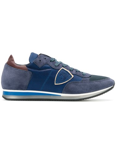 Philippe Model Panelled Sneakers Men Leather Polyamide Rubber 44 Blue WeE9yP6iDJ