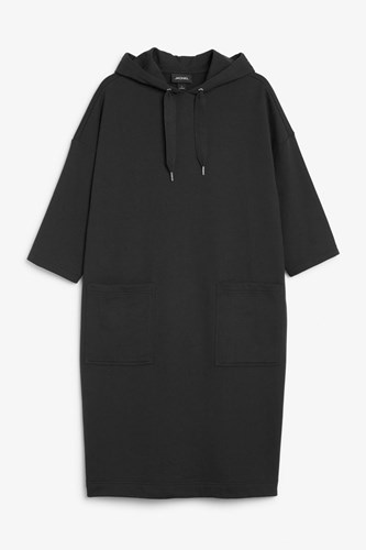 Monki Hoodie Monki Oversize Dress Black Oversize Tw1qBqg