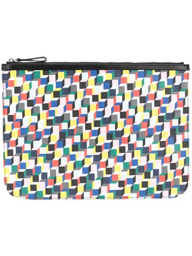 Pierre Hardy Geometric Printed Clutch Bag Multicolour 2NIWSk