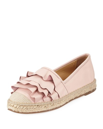 Leather Espadrille Insight Ruffle Marcus Pink Neiman tSIHqww
