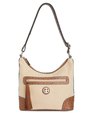 Linen Hobo For Giani Natural Created Medium Saddle Macy's Bernini CvWtnqZ