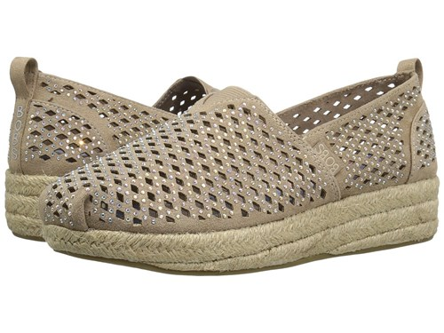 Skechers Highlights Taupe 1 Women's Flat Shoes 7A8pxS8