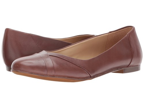 Naturalizer Gilly Coffee Bean Leather Flat Shoes Brown UtbV7