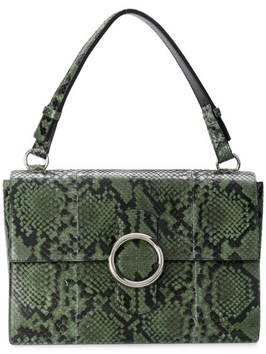 Orciani Structured Tote Bag Snake Skin Green Oq5aq