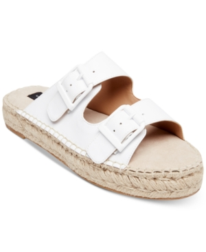 Steve Madden Steven By Lapis Espadrille Sandals White Leather UQUM4hd0