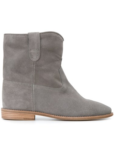 Crisi Leather Calf Marant Leather Suede Ankle Isabel Grey Calf Boots CTxgw1ff