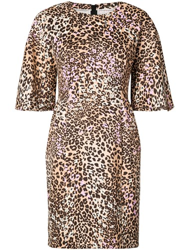 ADAM by Adam Lippes Leopard Print Sculpted Mini Dress Brown krHaSvhHTC