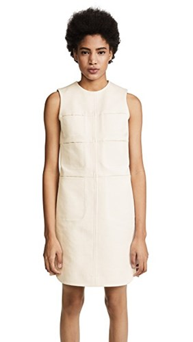 Carven Dress With Pockets Craie LtvUYvp