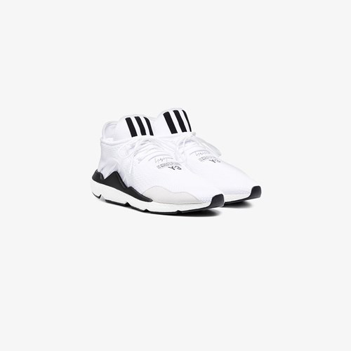 Y-3 Saikou Suede Trimmed Sneakers White UVzDoa3I