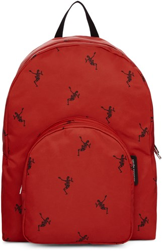 Alexander McQueen Red And Black Small Dancing Skeleton Backpack qrROhXgR3Z