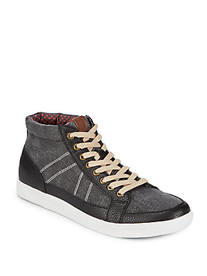 Ben Sherman Lace Up High Top Sneakers Black t5HvNs62l5
