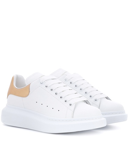 McQueen Sneakers White Leather Platform Alexander Ud4wqgxg8