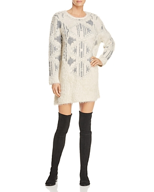Lost + Wander And Wonder Melissa Fuzzy Sweater Dress Gray 2sBzX0