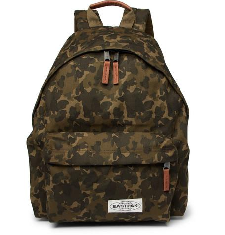 Eastpak Padded Pak'r Camouflage Print Canvas Backpack Green XAlgDG8