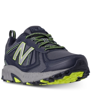 New Balance Men's Mt410 V5 Running Sneakers From Finish Line Pigment Hi Lite voQrE