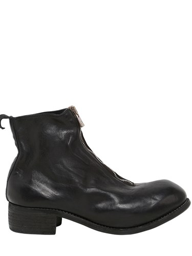 GUIDI 1896 Pl1 Zipped Leather Boots Black i5xT6L
