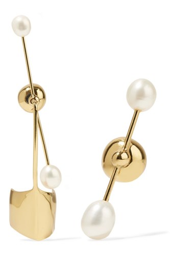 Goodnight Moon Gold-plated Pearl Earrings - one size ALIGHIERI GNWPNXNsC