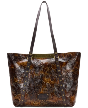Patricia Nash Benvenuto Extra Large Convertible Tote A Macy's Exclusive Style Bark Leaves G3aqbL