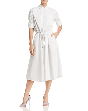 White Donna Drawstring Karan Dress Shirt wvvfI6