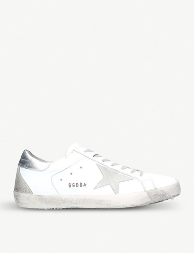 Golden Goose Superstar Distressed Leather Trainers White Oth uBrhj8rCk