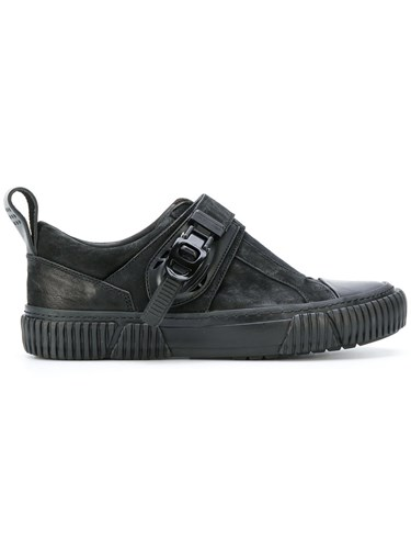 Both Buckled Low Top Sneakers Men Calf Leather Horse Leather Rubber 40 Black Qq1Ug2d8