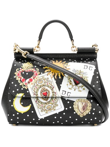 Tote Dolce Gabbana Sicily Black amp; Card SwwqrIOn