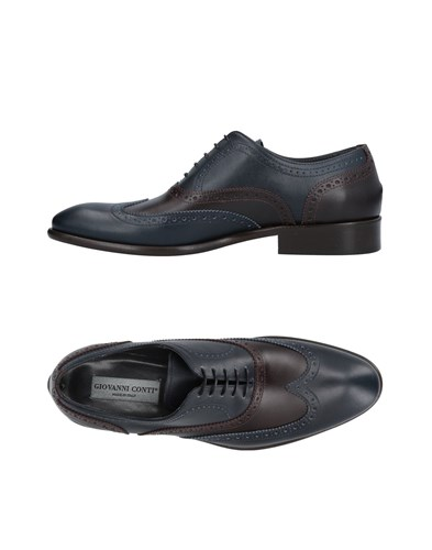 GIOVANNI CONTI Lace Up Shoes Dark Blue tl67Q