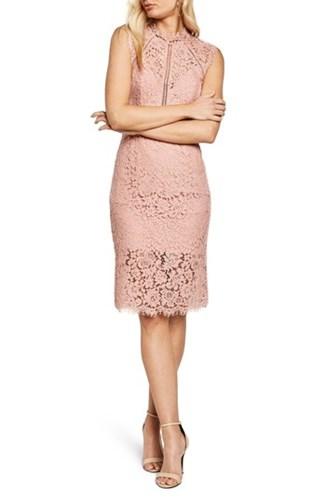 Bardot Women's Lace Sheath Dress Pastel EAzwEe