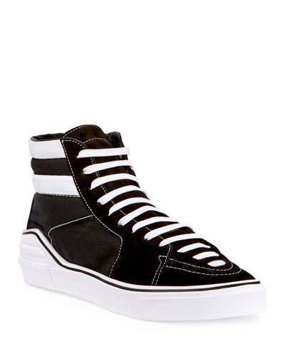 Givenchy George Canvas High Top Sneaker Black White Black White XBOnS1
