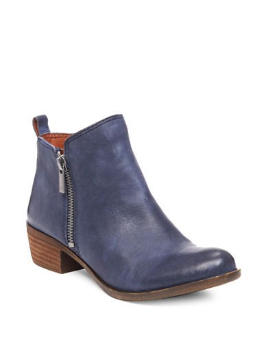 Lucky Brand Basel Printed Suede Booties Indigo Blue mPYwN6QEl