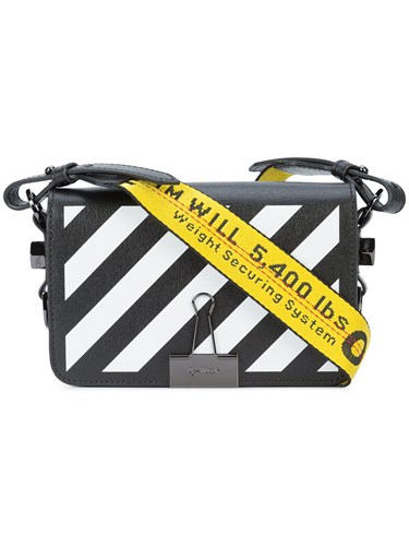 Off-White Striped Crossbody Bag Black 0BXPJuk7w