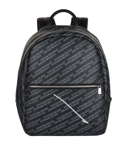 Armani Logo Backpack Black tZciIo
