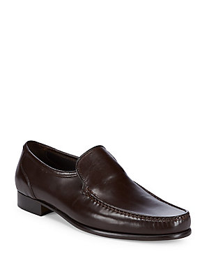 Bruno Magli Sebastiano Classic Leather Loafers Dark Brown o5oucOz