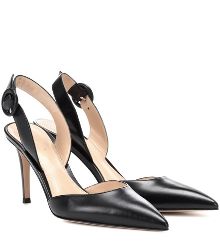Gianvito Rossi Exclusive To Mytheresa.Com Leather Slingback Pumps Black nHVLk1A9Cz