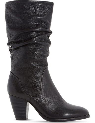 Dune Rossy Leather Calf Boots Black ljmbtvdOmH