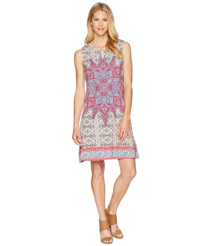 Tribal Printed Jersey Sleeveless Dress Hi Pink UH9BafD