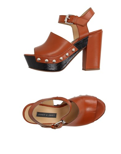 Janet & Janet Sandals Brown sX0lVpDzrI