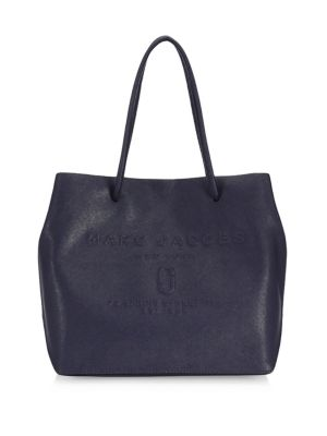 Marc Jacobs Logo Shopper East West Tote Red Pepper Stone Grey n0648