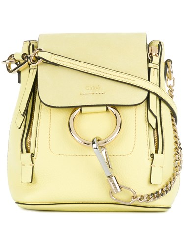 Chloé Mini Faye Backpack Yellow And Orange iUKocEE