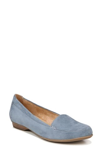 Naturalizer Women's 'Saban' Leather Loafer Blue Suede jVYGaPa